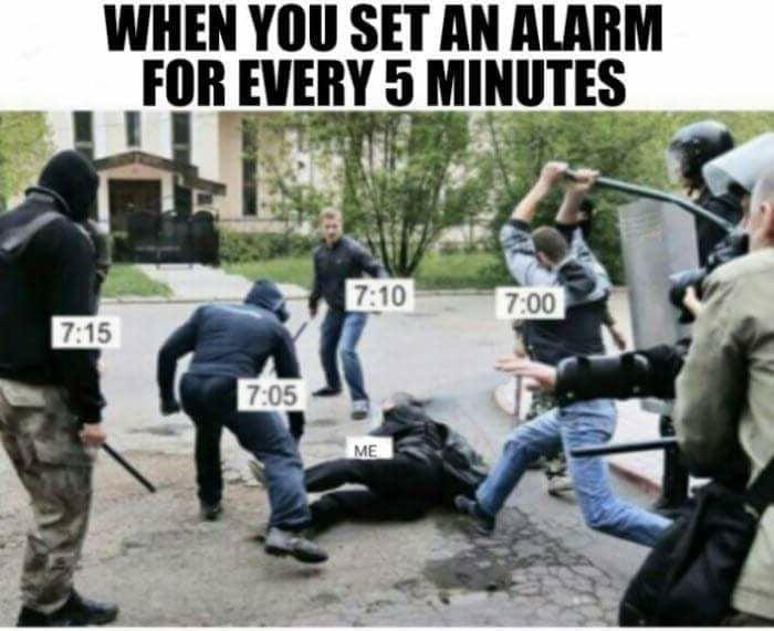 5 minute alarms 9gag