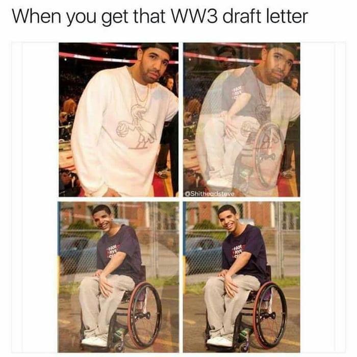 WW3 Draft Letter got me like   9GAG