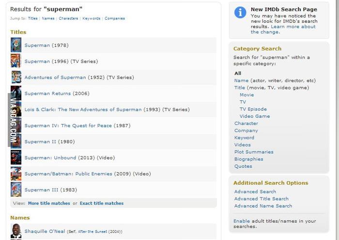 IMDb discovers the secret of Shaq - 9GAG