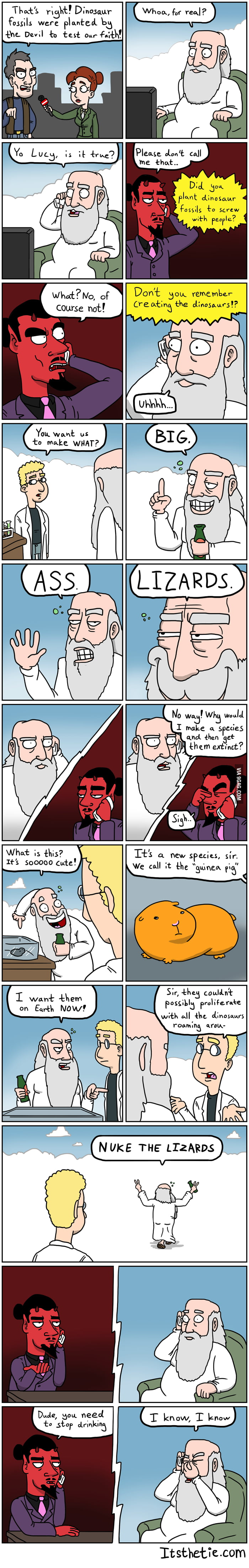 God vs Satan: Fossils