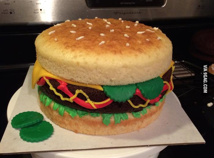Hamburger Birthday Cake 9gag