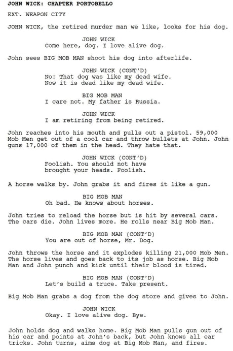 Bot Writes A John Wick Script And People Are Loving It - 9GAG