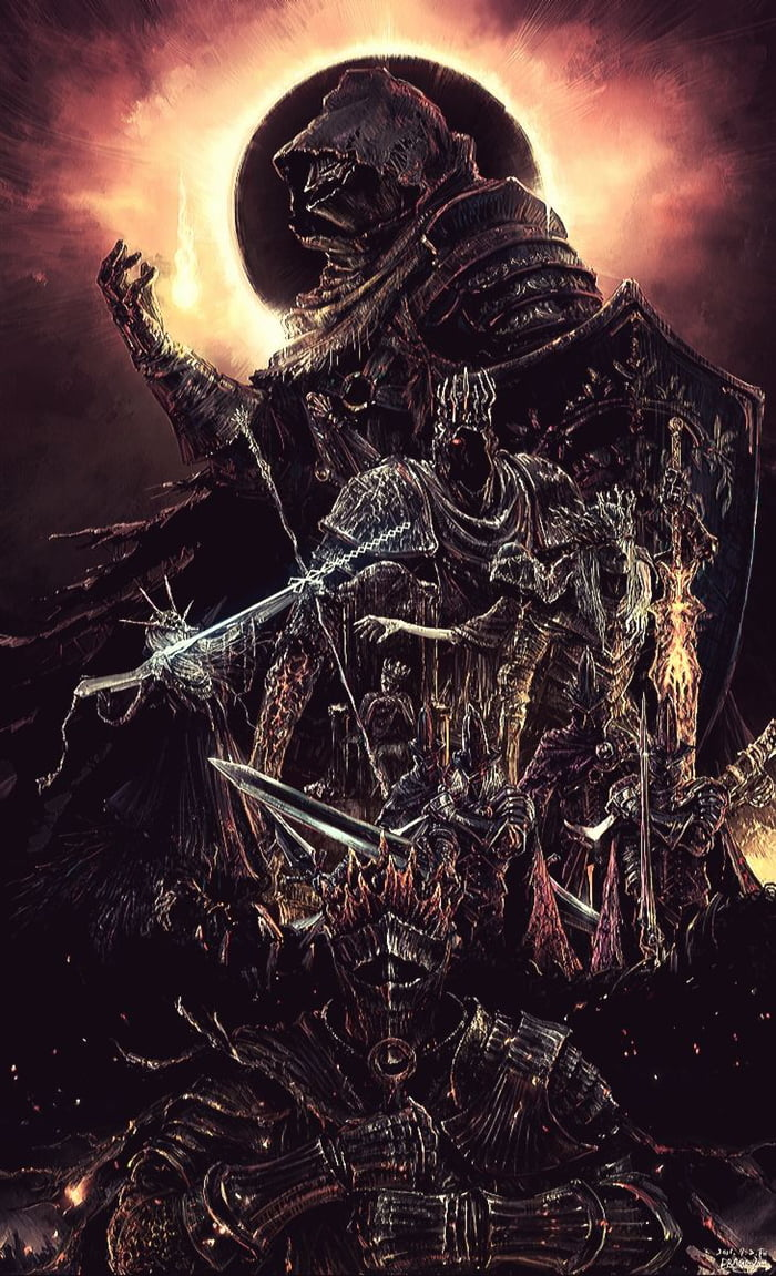 Ashen One Lords Of Cinder And Soul Of Cinder From Dark