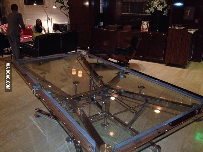 Glass Pool Table Coolest Thing Ever 9gag