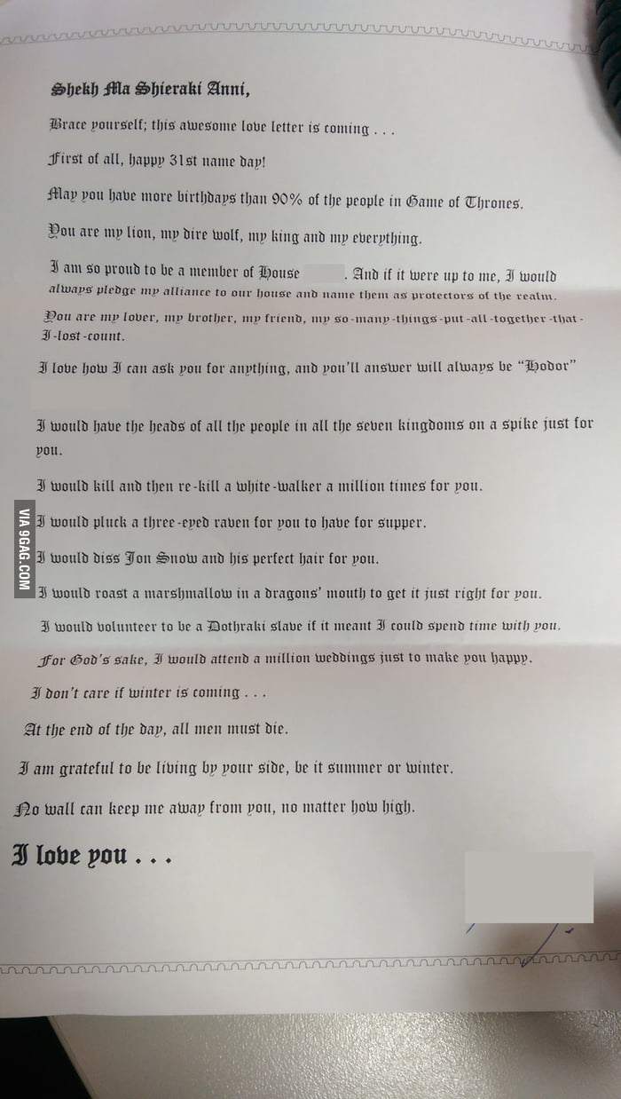 My Most Amazing Wife Gave Me This Letter For My Birthday  Gag