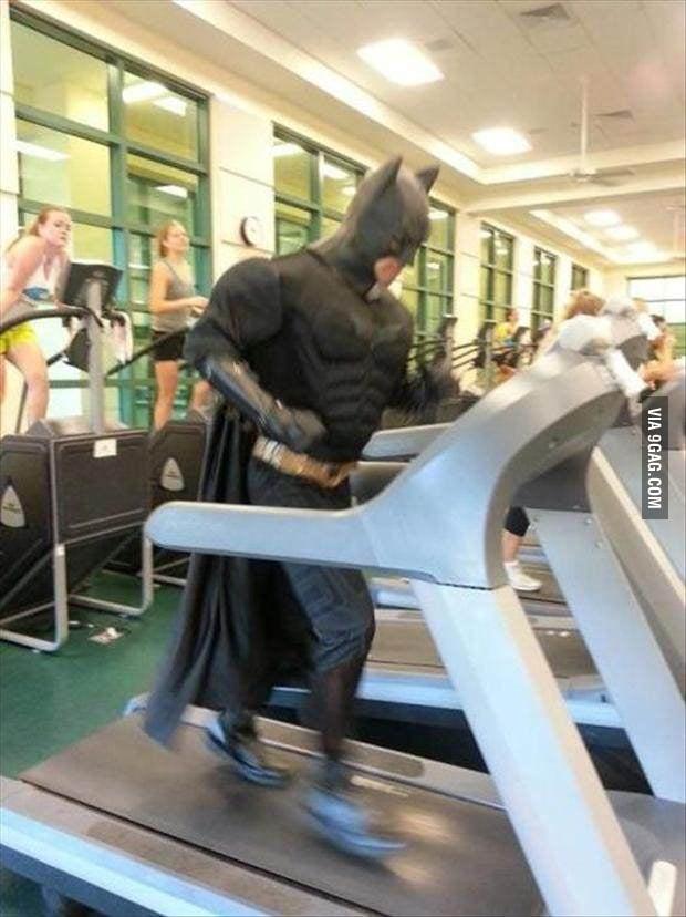Batman keeping his shape