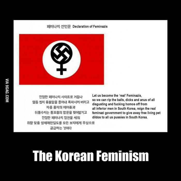 The korean style feminists - 9GAG