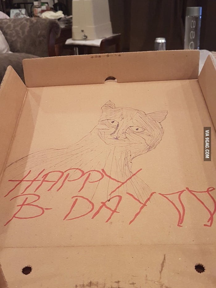 Asked A Restaurant To Draw Me Cat As Birthday Gift Was Not Disappointed