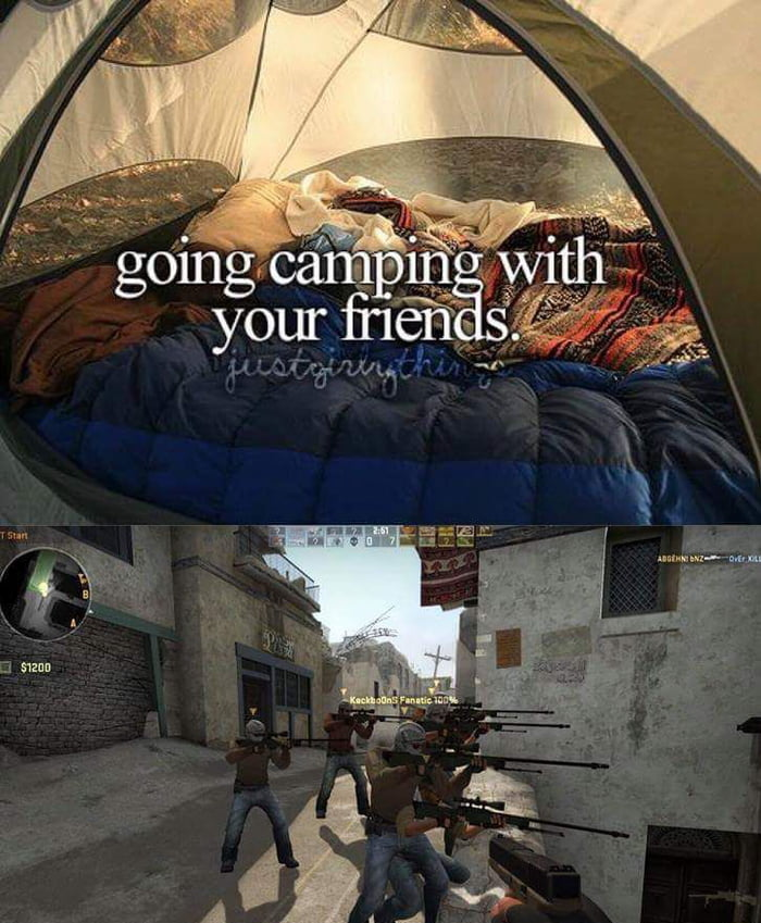 Camping with frends.