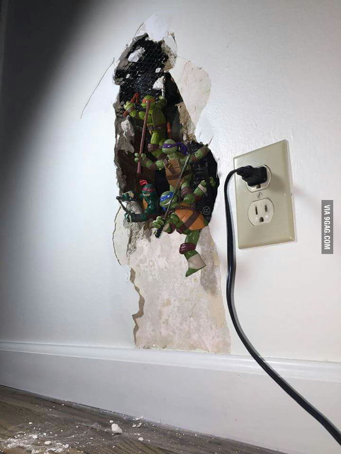 Wall got busted from water damage? Let's make it look better