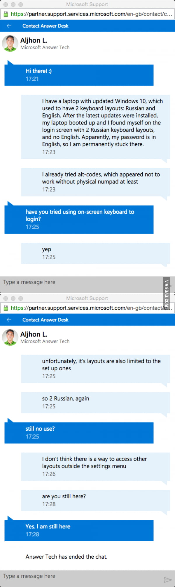 Windows support - Part 2  Nobody likes Russians  - 9GAG
