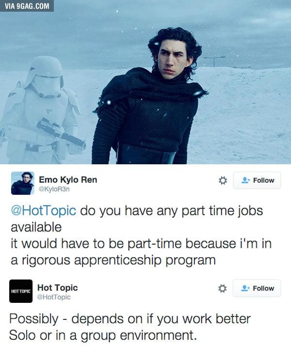 Hot Topic Job Application