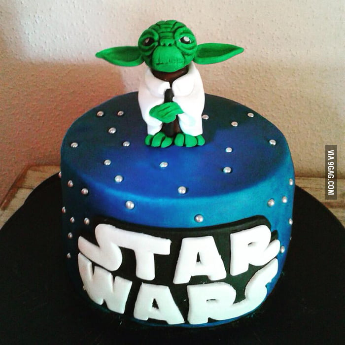 Star Wars Birthday Cake For My Boyfriend All Done By Myself May The Force Be With You