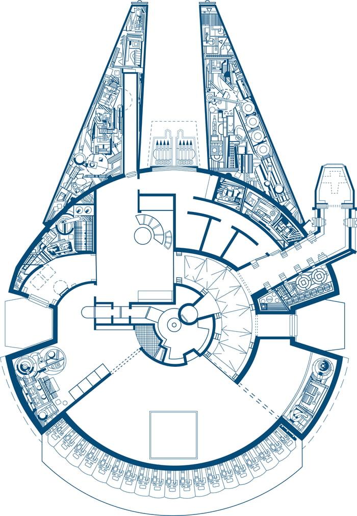 Millenium Falcon Floor Plan | Millennium Falcon Floor Plan 9gag