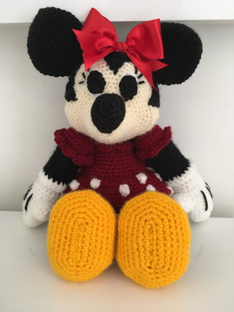 Minnie Mouse 9 Handmade crochet doll birthday by Solutions2511 ... | 613x460