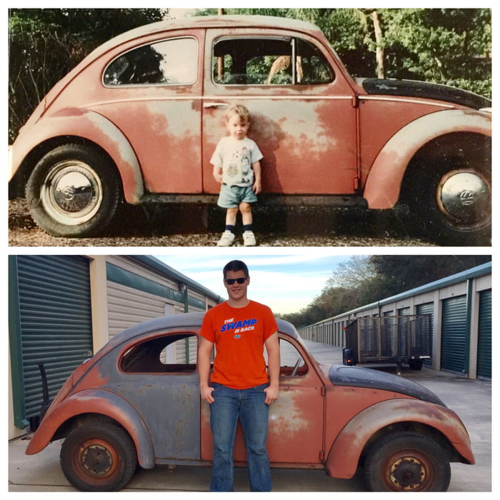 I sold this '58 VW Bug in 1994 when my son was 2 years old