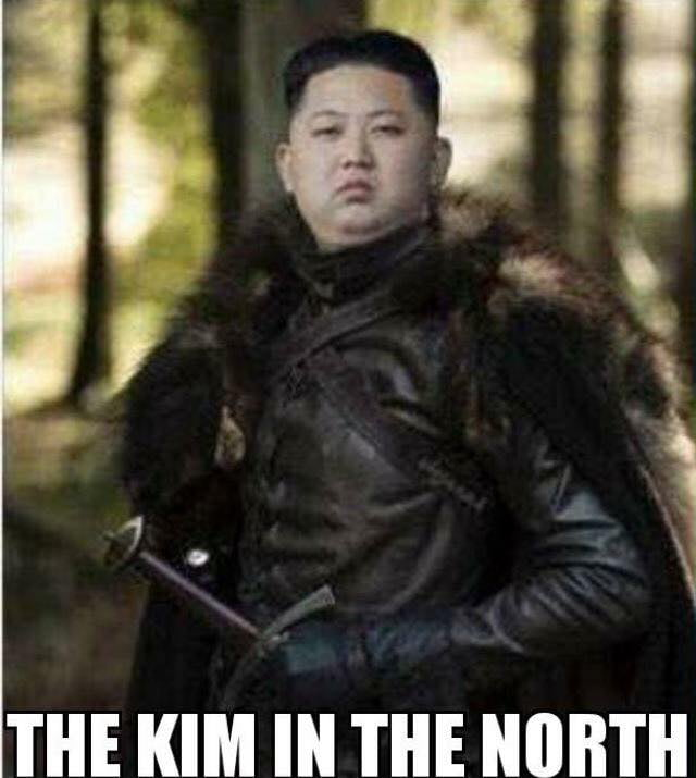 This is Jong Snow.... He's the Kim in the North