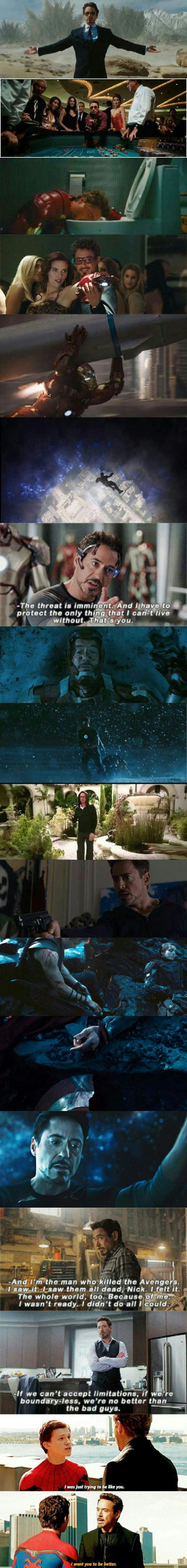Tony Stark's character development