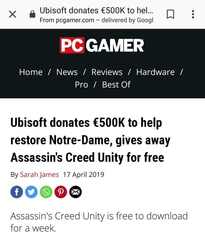 Pay Ubisoft Donates 500k