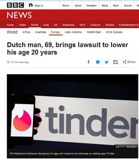 how to change age on tinder