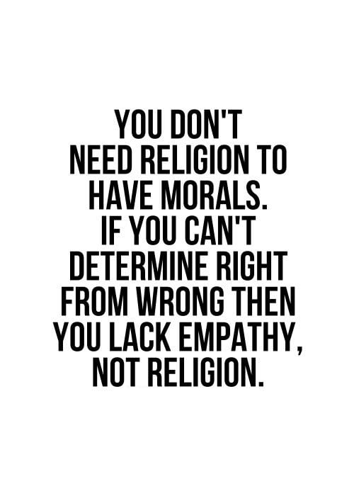 Moral sense or empathy ?