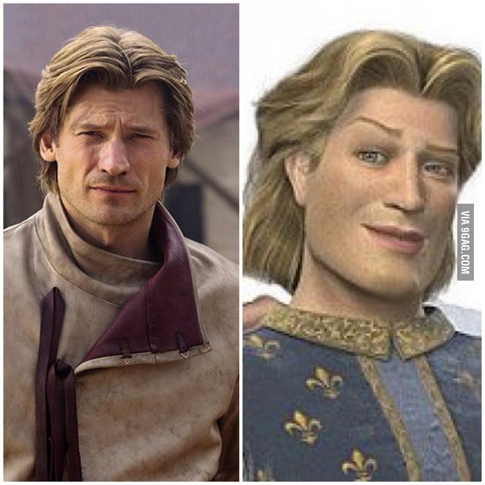 Jaime Lannister (Game Of Thrones) = Prince Charming (Shrek ...