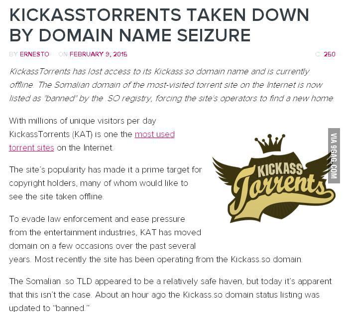 kickass torrents site status
