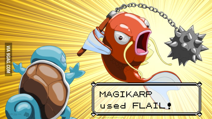 Magikarp used FLAIL! It's super effective!