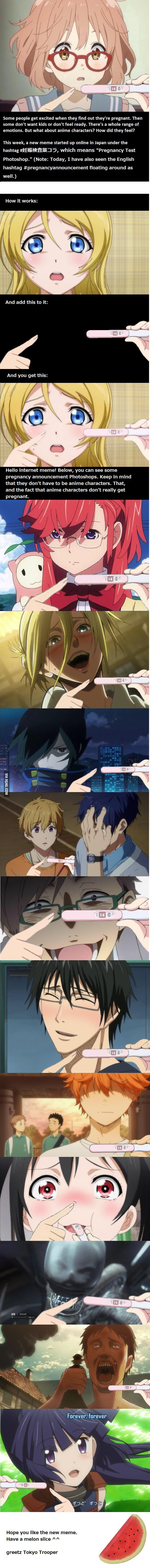 Anime Characters Announcing Theyre Pregnant Is A New Meme 9gag