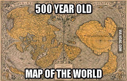 Meet Piri Reis and his 500 year old map. Notice something unusual ...