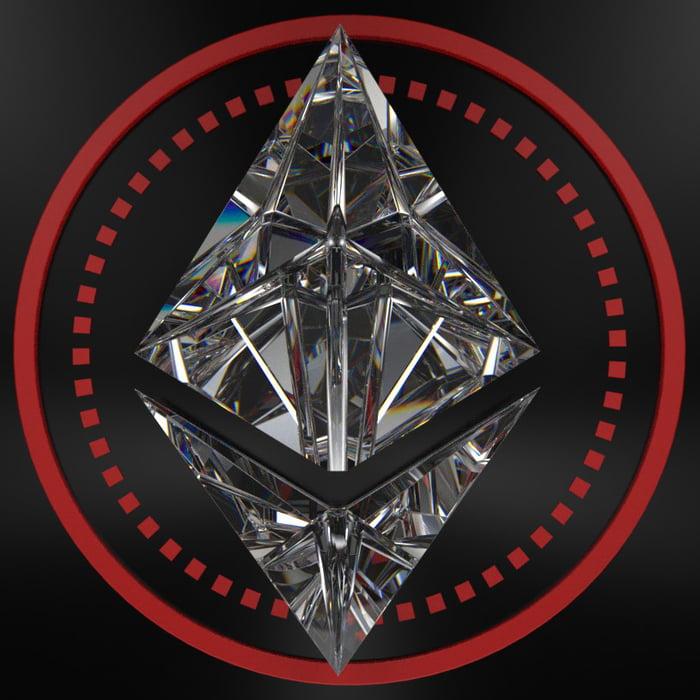 Diamond Ethereum (I made this) (3d software cinema4d + octane) - 9GAG