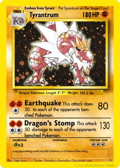 Tyrantrum As A Classic Pokemon Card By Peetabain 9gag