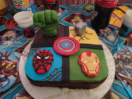My Sister Was Asked For A Little Avenger Cake Happy Birthday Kid