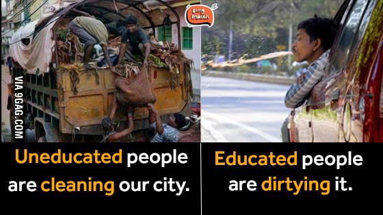 difference somewhere between educated and also uneducated people