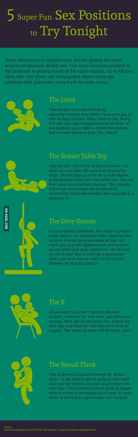 5 Sex Positions To Spice Up Your Life 9gag