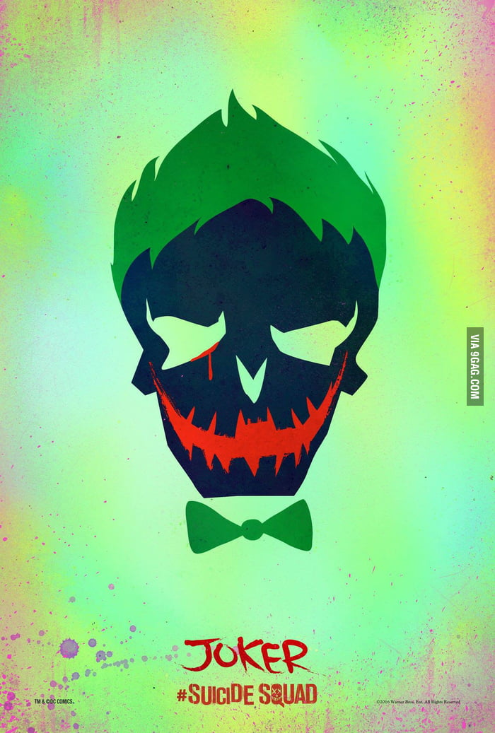 Jokers Tooth In Suicide Squad Logo Looks Like Batman Symbol 9gag
