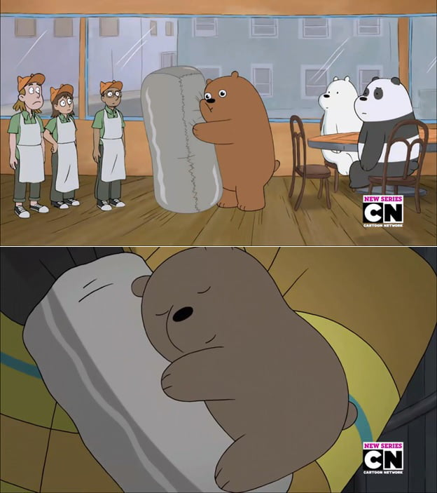 right in the feels yes i watch we bare bears 9gag