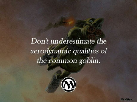 MTG Falvor Text 8-Goblin Grenade