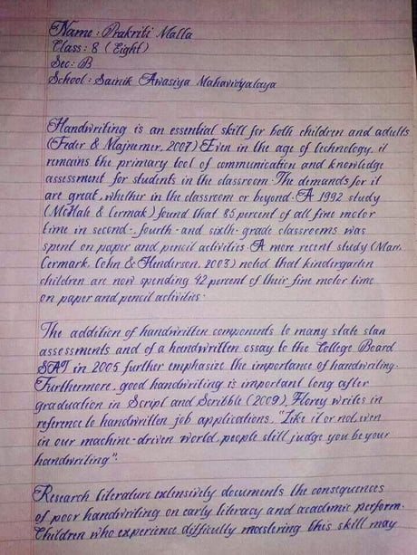 best handwriting fun on gag  prakriti malla handwriting considered the best handwriting in the world and more beautiful than my future