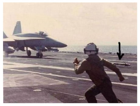A rare shot of a disobedient baby F18 running away from a mama F18