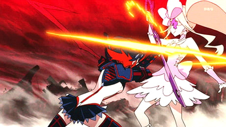 "Want extreme action in every episode, boobs, fights, thrilling moments and humor! watch ""KILL LA KILL"""