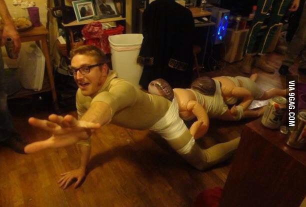 my human centipede costume what do you guys think 9gag
