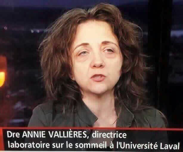 It says Director of laboratory of sleep at Uni of Laval