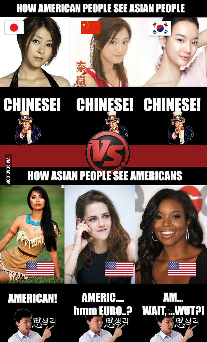 How american people SEE vs how asian people SEE - 9GAG
