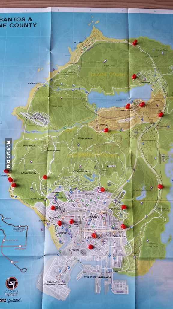 Need Money In Gta V Heres Locations Of Convenience Stores 9gag