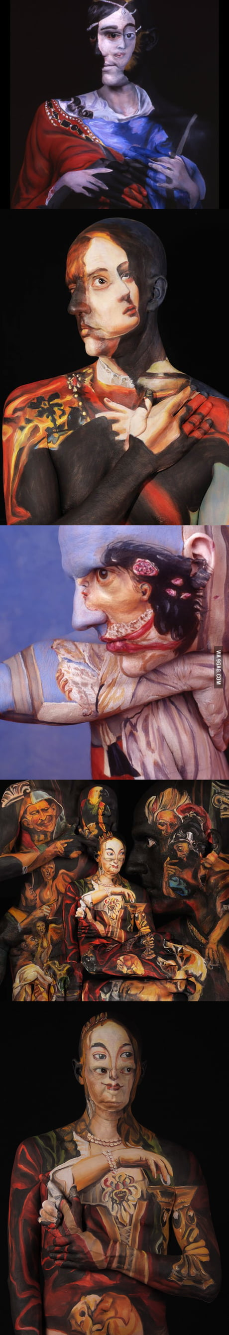 These Body Art Works Will Probably Hurt Your Brain 9gag
