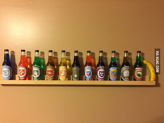 All COD Zombie perks ever. All made out of Jones Soda bottles ...