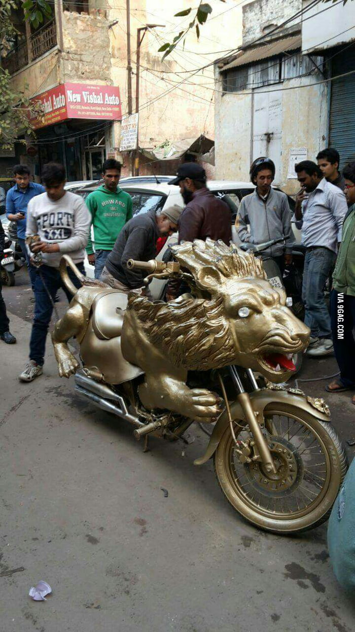Bike modification level lion  yes it's from India - 9GAG