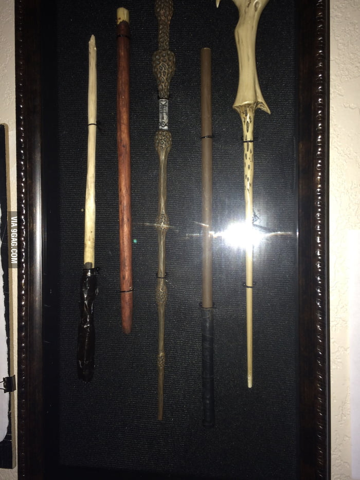 To the guy with the Wands   raise you a fancy shadow box of