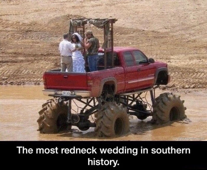 The most redneck wedding in southern history.